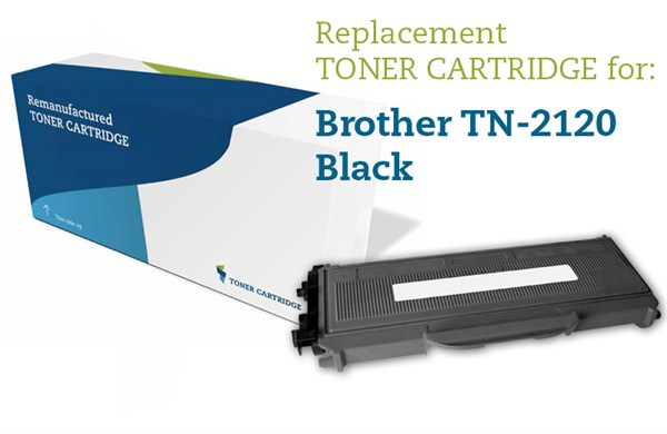 Sort lasertoner 2120 - Brother TN-2120 - 2.600sider