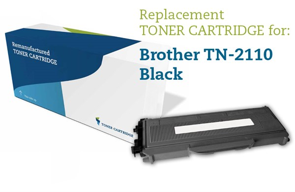 Sort lasertoner TN-2110 - Brother - 1.500 sider.
