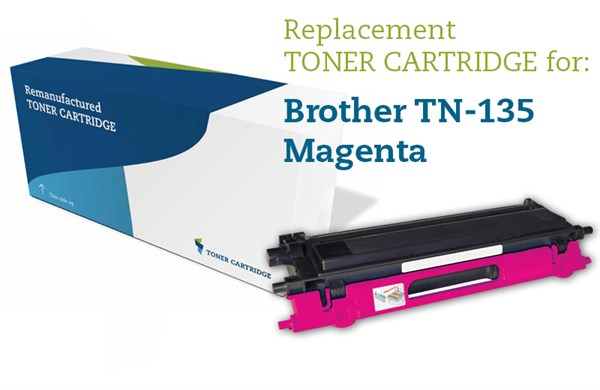 Magenta lasertoner - Brother 135M - 4.000 sider.