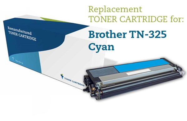 Cyan lasertoner - Brother TN-325C - 3.500 sider