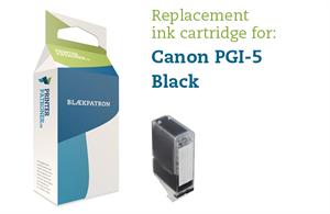 N/A – Sort blækpatron - canon pgi-5bk - 26 ml. på printerpatroner.dk