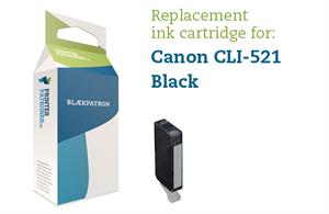 Sort blækpatron - Canon CLI-521BK - 9 ml.