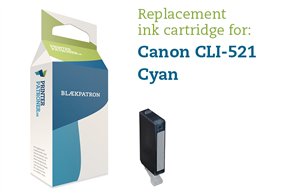 Image of   Cyan blækpatron - Canon CLI-521C - 9 ml.