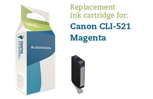 Image of   Magenta blækpatron - Canon CLI-521M - 9 ml.