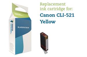 Image of   Gul blækpatron - Canon CLI-521Y - 9 ml.
