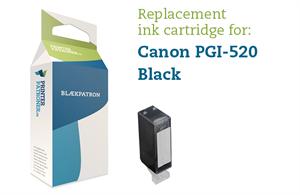 Sort blækpatron - Canon PGI-520PGBK - 19ml.