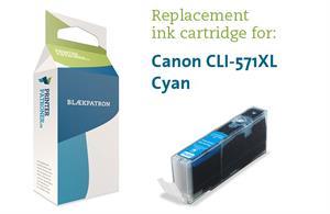 N/A Cyan blækpatron 571cxl - canon - 13 ml fra printerpatroner.dk