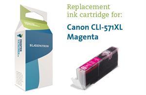 Magenta blækpatron 571mxl - canon - 13 ml fra N/A fra printerpatroner.dk