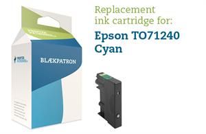 Cyan blækpatron - epson t0712/892 - 9ml. fra N/A på printerpatroner.dk