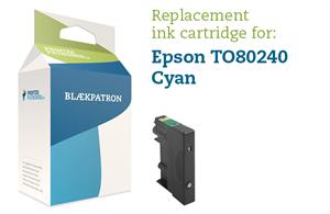 Image of   Cyan blækpatron - Epson T0802 - 10,5ml.