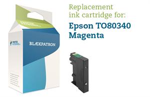 Image of   Magenta blækpatron - Epson T0803 - 10,5ml.