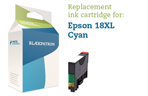 Image of   Cyan blækpatron 18XL - Epson - 10ml.