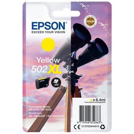Epson Gul Blækpatron - Epson 502Xl - 6,4 Ml Originale Epson Blækpatroner