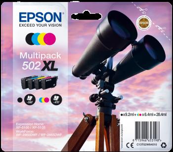 Image of   4-Pak B/C/M/Y T502XL patroner - Epson - 1x9,2+3x6,4 ml