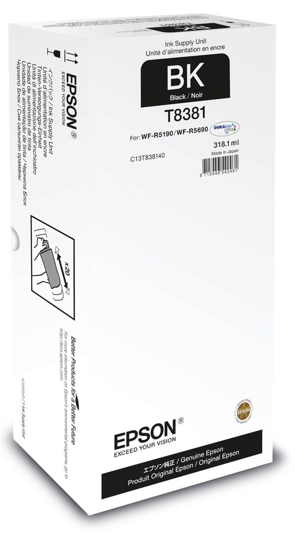 Sort blækpatron - Epson T8381 - 318,1 ml