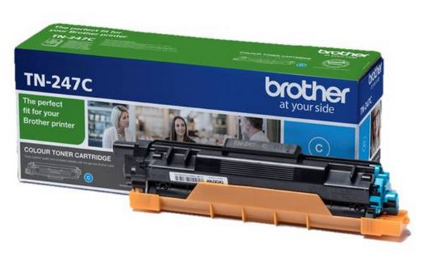 Image of   Cyan lasertoner - Brother TN247C - 2300 sider