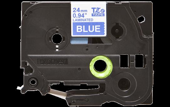 Brother tape 24 mm. hvid tekst / blå tape (laminerede) 8 m. pr. rl.