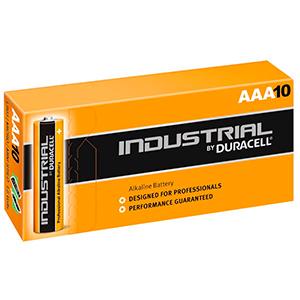Image of   Duracell Industrial - AAA batterier - æske m. 10 stk.
