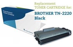 Sort lasertoner 2220 - Brother TN-2220 - 2.600 sider.