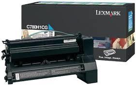 Cyan lasertoner - Lexmark E780 - 10.000 sider