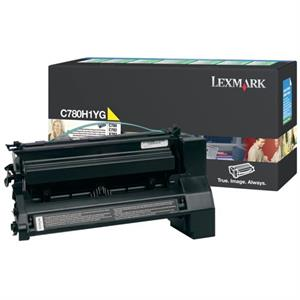 Image of   Gul lasertoner - Lexmark E780 - 10.000 sider