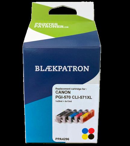 Image of   5-Pak B/C/M/Y patroner - Canon 570XL/571XLCMYK - 1x22/4x12ml