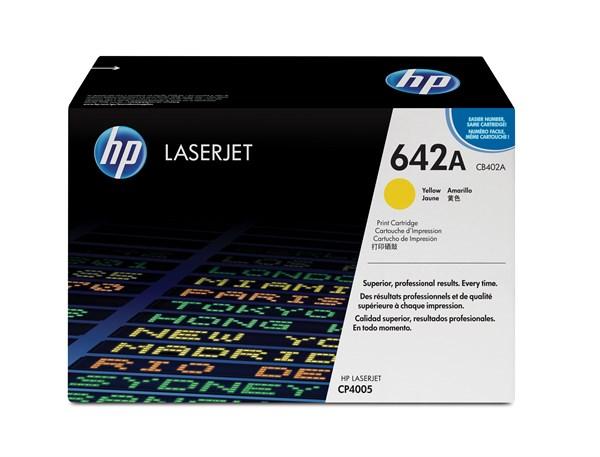 Image of   Gul lasertoner - HP nr.642A - 7.500 sider