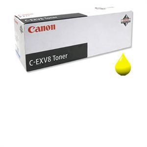N/A Gul lasertoner c-exv8 - canon - 25.000 sider. på printerpatroner.dk