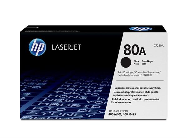 Sort lasertoner - hp nr.80a - 2.700 sider
