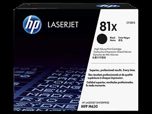 Sort lasertoner - HP nr.81X - 25.000 sider