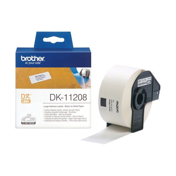 Brother stor adresse label (38x90mm) 400 stk.