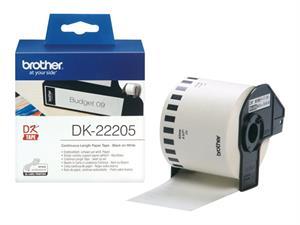 Dk22205 brother 62mm papirtape - hvid (30,48m) fra N/A fra printerpatroner.dk