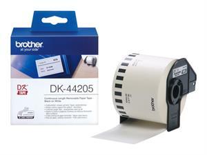 N/A – Dk44205 brother 62mm papirtape - hvid - aftagelig (30,48m) fra printerpatroner.dk