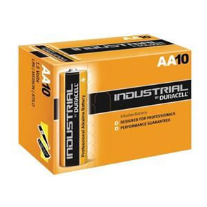 Image of   Duracell Industrial - AA batterier - æske m. 10stk.