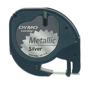 N/A Sølvmetal 12 mm metaltape (91228) fra printerpatroner.dk