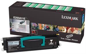 Image of   Sort lasertoner - Lexmark 250A11E - 3.500 sider.