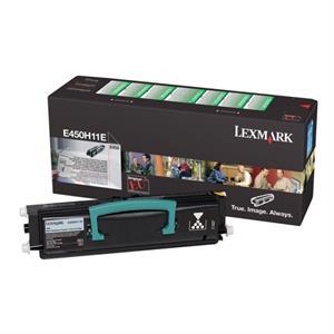 Sort lasertoner E450H - Lexmark - 11.000 sider