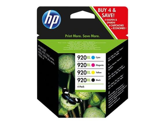 Image of   4-Pak B/C/M/Y patroner - HP nr.920 xl - 1X1200/3x700 s