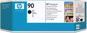 Image of   Sort printhoved og Print Cleaner - HP nr.90 -