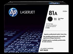 Sort lasertoner - hp nr.81a - 10.500 sider