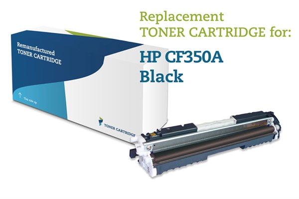 Image of   Sort lasertoner - HP nr.130A - 1.300 sider