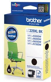 Image of   Sort blækpatron - Brother 229 - 2.400 sider