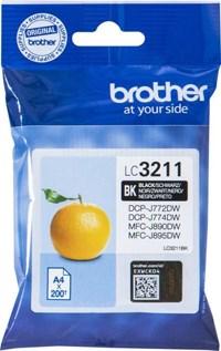 Sort blækpatron - Brother LC3211BK - 200 sider
