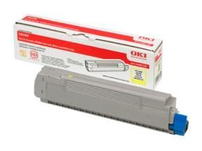Gul lasertoner C86/88 - OKI - 6.000 sider.