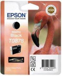 Mat sort blækpatron T0878 - Epson - 11,4ml.
