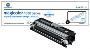 Sort lasertoner 1600 - Konica Minolta - 2.500 sider