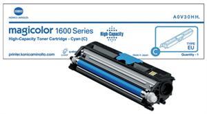 Cyan lasertoner 1600 - konica minolta - 2.500 sider