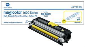 Gul lasertoner 1600 - konica minolta - 2.500 sider