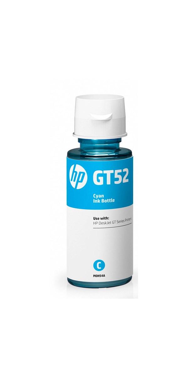 Cyan blæk - GT52 til HP M0H54AE - 70 ml.