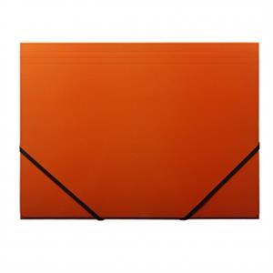 A4 orange elastikmappe pap